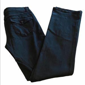 INC Boot Leg Regular Fit Black Jeans, Size 10 Long